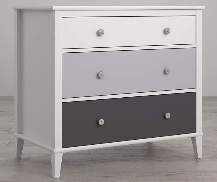 Monarch Hill Poppy White and Gray 3 Drawer Dresser lifestyle