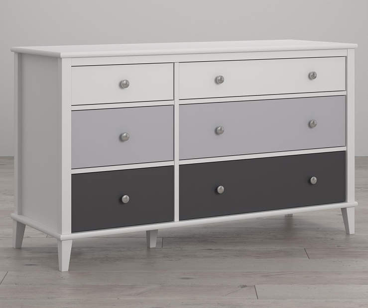 Monarch Hill Poppy White and Gray 6 Drawer Dresser lifestyle