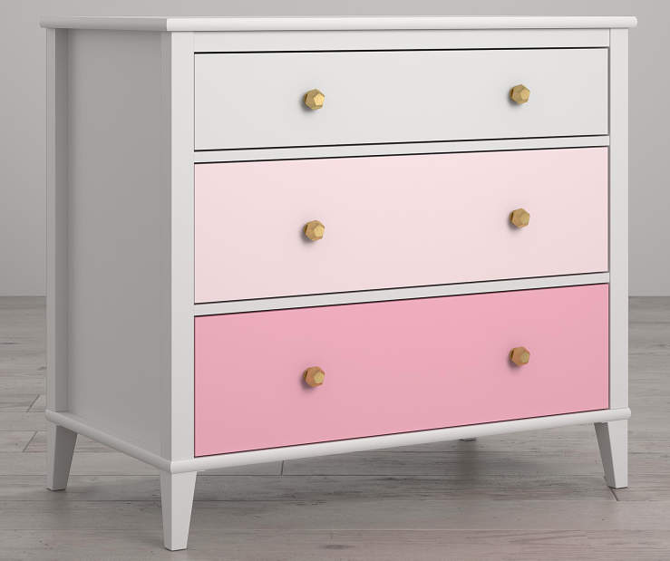 Monarch Hill Poppy White and Pink 3 Drawer Dresser lifestyle