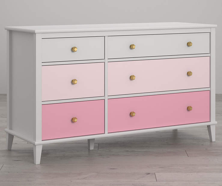 Monarch Hill Poppy White and Pink 6 Drawer Dresser lifestyle