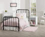 Monarch Hill Wren Black Twin Metal Bed lifestyle