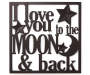 Moon and Back Metal Wall Decor Overhead View Silo Image
