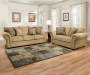 Morgan Antique Memory Foam Sofa and Loveseat Room Setting Lifestyle Image