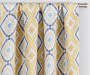 Moriah Gold Ikat Geo Blackout Single Curtain Panel 63 inches Cropped Lifestyle