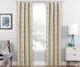 Moriah Gold Ikat Geo Blackout Single Curtain Panel 63 inches Lifestyle