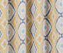 Moriah Gold Ikat Geo Blackout Single Curtain Panel 63 inches Swatch