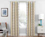 Moriah Gold Ikat Geo Blackout Single Curtain Panel 95 inches Lifestyle