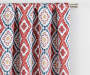 Moriah Red Ikat Geo Blackout Single Curtain Panel 84 inches Cropped LIfestyle