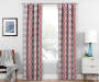 Moriah Red Ikat Geo Blackout Single Curtain Panel 84 inches Lifestyle