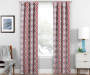 Moriah Red Ikat Geo Blackout Single Curtain Panel 95 icnhes Lifestyle