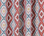 Moriah Red Ikat Geo Blackout Single Curtain Panel 95 inches Swatch