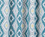 Moriah Teal Ikat Geo Blackout Single Curtain Panel 63 inches Swatch