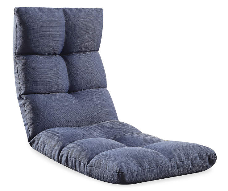 Morris Youth Blue Convertible Game Chair Silo Angled