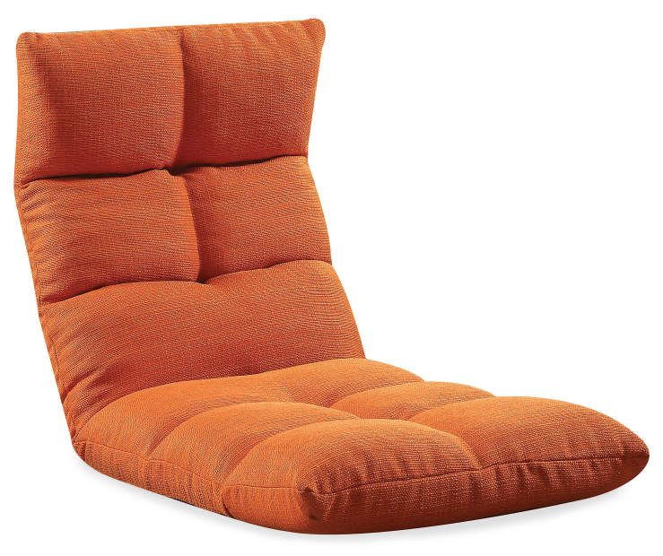 Morris Youth Tangerine Orange Convertible Game Chair Silo Angled