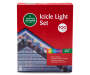 Multi Color C9 and Mini Icicle Light Set on White Wire 100 Count video