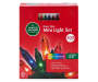 Multi Color Heavy Duty Mini Light Set on Green Wire  200 Count silo front