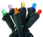 Multi Color LED Mini Light Set on Green Wire 350 Count silo front