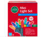 Multi Color LED Mini Light Set with Green Wire 120 Count silo front package