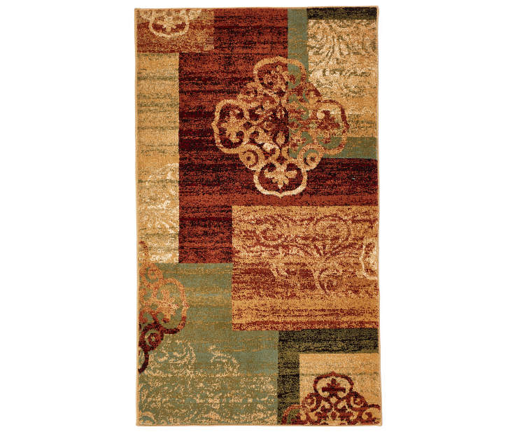 Living Colors Multi Color Medallion Block Rugs Big Lots