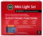 Multi Color Mini 16 Function Motion Light Set on Green Wire150 Count silo front in package back view