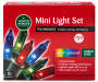 Multi Color Mini 16 Function Motion Light Set on Green Wire150 Count silo front package