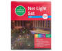 Multi Color Net Light Set on Green Wire 150 Count silo front package view