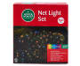Multi Color Net Light Set on Green Wire 150 Count silo front