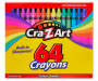 Multi-Color Crayons with Built-in Sharpener, 64-Count
