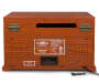 Musician Bluetooth 6 in 1 Woodgrain Turntable Speaker silo front backview