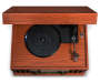 Musician Bluetooth 6 in 1 Woodgrain Turntable Speaker silo top view