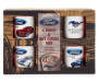 Mustang Mug and Hot Cocoa Mix Gift Set In Package Overhead View Silo Image