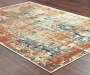 Myia Multi Color Abstract Area Rug 7 feet 10 inch x 10 feet 10 inch lifestyle
