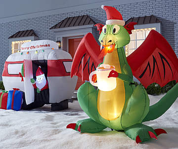 starting at 6000 mythical camper christmas inflatables - Outdoor Christmas Inflatables