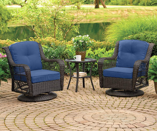 real living navy blue deep seat outdoor