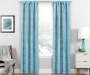 Nalia Blue Triangle Blackout Single Curtain Panel 84 inches Lifestyle