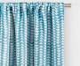 Nalia Blue Triangle Blackout Single Curtain Panel 95 inches Cropped Lifestyle