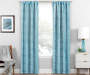 Nalia Blue Triangle Blackout Single Curtain Panel 95 inches Lifestyle