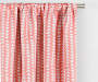Nalia Coral Triangle Blackout Single Curtain Panel 84 inches Cropped LIfestyle