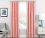 Nalia Coral Triangle Blackout Single Curtain Panel 84 inches Lifestyle