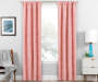 Nalia Coral Triangle Blackout Single Curtain Panel 95 inches Lifestyle