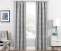 Nalia Gray Triangle Blackout Single Curtain Panel 84 inches Lifestyle