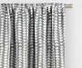 Nalia Gray Triangle Blackout Single Curtain Panel 95 inches Cropped Lifestyle
