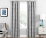 Nalia Gray Triangle Blackout Single Curtain Panel 95 inches Lifestyle