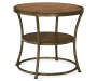 Nartina Brown End Table silo front