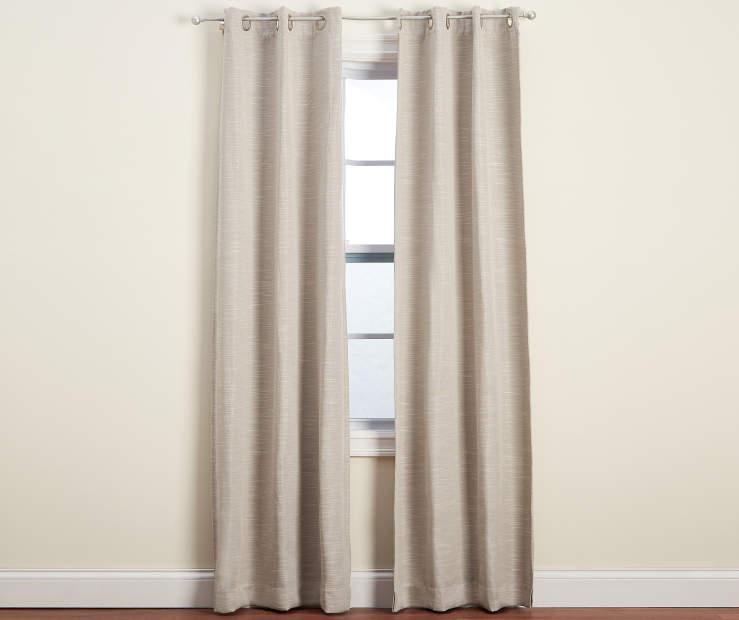 Natural Graham Blackout Curtain Panel Pair 84 inch lifestyle