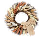 Natural Heather Wreath 22 inch silo front