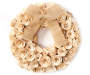 Natural Rose Curl Wooden Wreath silo front