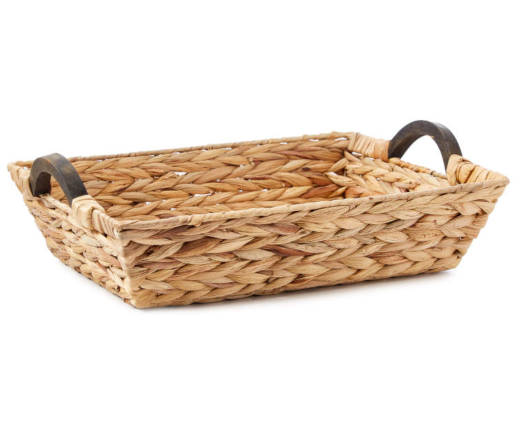 Natural Water Hyacinth Tray silo front