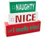 Naughty Nice I Really Tried Stacked Tabletop Plaque silo front