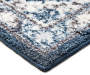 Navy Blue Elegance Accent Rug 1 feet 8 inches x 2 feet 10 inches silo front corner